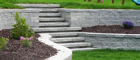 stone path way and stairs